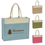 Promotional Tote Bags: Customized Jute Tote with Front Pocket