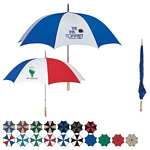 Promotional Umbrellas: Customized 60 Golf Umbrella with Wooden Handle