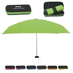Promotional Umbrellas: Customized 37 Arc Folding Travel Umbrella with Eva Case