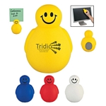 Promotional Stress Relievers: Customized Smiley Memo Holder And Screen Cleaner