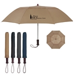 Promotional Umbrellas: Customized 44 Arc Telescopic Folding Wood Handle Umbrella
