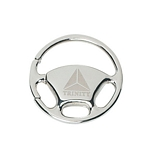 Promotional Key Chains: Customized Wheel Silver Key Chain