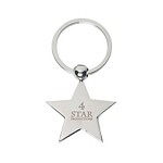 Promotional Key Chains: Customized Star Silver Key Chain