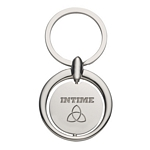 Promotional Key Chains: Customized Circular Spinning Metal Key Tag