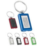 Promotional Key Chains: Customized Rectangle Metal Light Key Tags