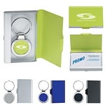 Promotional Business Card Holders: Customized 2 in 1 Key Tag Business Card Holder