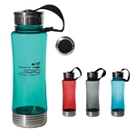 Promotional Sports Bottles: Customized 22 oz. Fusion Polycarbonate Bottle with Stainless Bottom