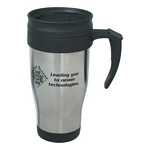 Promotional Travel Mugs: Customized 16 oz. Stainless Steel Travel Mug with Slide Action Lid