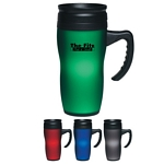 Promotional Travel Mugs: Customized 14 oz. Soft Touch Travel Mug