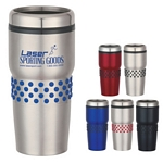 Promotional Tumblers: Customized 16 oz Stainless Steel Tumbler with Dotted Grip