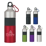 Promotional Metal Sports Bottles: Customized 25 oz Two-Tone Stainless Steel Bottle with Rubber Grip