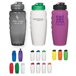 Promotional Plastic Sports Bottles: Customized Poly-clear 30 oz Gripper Bottle