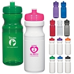 Promotional Plastic Sports Bottles: Customized Poly-clear 24 oz Fitness Water Bottle