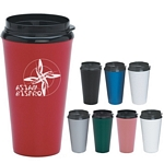 Promotional Travel Mugs: Customized 16 oz. Infinity Tumbler with Plastic Sip Thru Lid