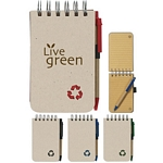 Promotional EcoFriendly Notebooks: Customized Eco-Rich Spiral Jotter & Pen