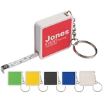 Promotional Measure Tapes: Customized Square Tape Measure Key Tag