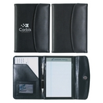 Promotional Junior Padfolios: Customized Leather Look 5 x 7 Portfolio