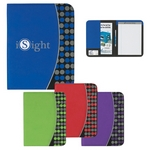 Promotional Padfolios: Customized NonWoven 8-1-2 x 11 Polk-A-Dot Padfolio