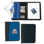 Promotional Padfolios: Customized Large Microfiber Portfolio with Embossed PVC Trim
