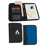 Promotional Padfolios: Customized Small Microfiber Portfolio with Embossed PVC Trim