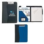Promotional Padfolios: Customized Microfiber Clip Board with Embossed PVC Trim