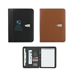 Promotional Padfolios: Customized Eclipse Bonded Leather 8-1-2 X 11 Zippered Portfolio with Calculator