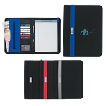 Promotional Padfolios: Customized Contemporary 8 1-2 x 11 Zippered Portfolio
