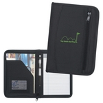 Promotional Padfolios: Customized Zip-Up Small Traveler Portfolio