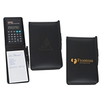 Promotional Padfolios: Customized Leather Look Jotter Pad with Calculator and Pen