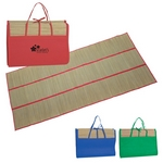 Promotional Beach Mats: Customized Straw Beach Mat Tote Bag