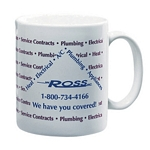 Promotional Ceramic Mugs: Customized 11 oz White Ceramic Mug