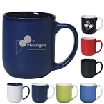 Promotional Ceramic Mugs: Customized 17 oz. Two-Tone Majestic Coffee Mug