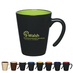 Promotional Ceramic Mugs: Customized 9 oz Aztec Open Handle Mug