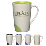 Promotional Ceramic Mugs: Customized 12 oz Half-Moon Ceramic Mug