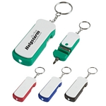 Promotional Tool Key Chains: Customized 2-in-1 Tool Kit Key Tag