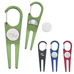 Promotional Gold Kits: Customized Aluminum Clip Divot Tool with Ball Marker