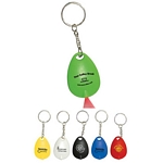 Promotional Key Chains: Customized Tear Drop Mini Light Key Tag