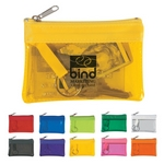 Promotional Coin Pouches: Customized Translucent Zippered Coin Pouch
