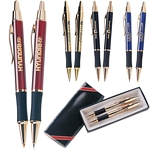 Customized Pen: Monaco Gold Pen and Pencil Gift Set