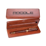 Customized Pen: Rosewood Pen with Wooden Gift Box