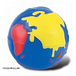 Promotional Multi-Color Globe Stress Ball - Promotional Products
