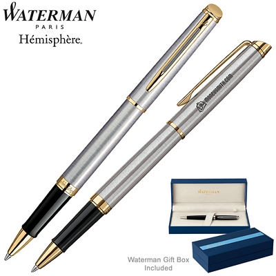 Customized Waterman Hemisphere Stainless GT Roller Ball Pen