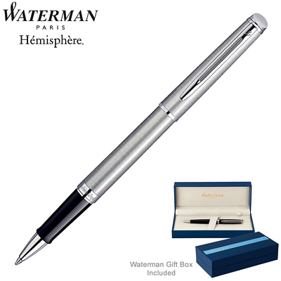 Customized Waterman Hemisphere Stainless CT Roller Ball Pen
