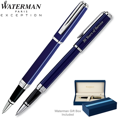 Customized Waterman Exception Slim Blue ST Roller Ball Pen
