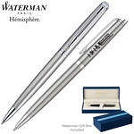 Customized Waterman Hemisphere Stainless CT Ballpoint Pen