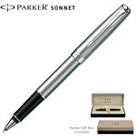 Customized Parker Sonnet Stainless CT Roller Ball Pen
