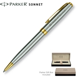 Customized Parker Sonnet Stainless GT Ballpoint Pen