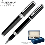 Customized Waterman Exception Night & Day Black Roller Ball Pen