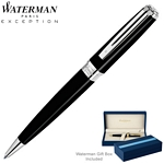 Customized Waterman Exception Slim Black ST Ballpoint Pen