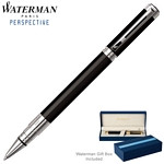Customized Waterman Perspective Black CT Roller Ball Pen